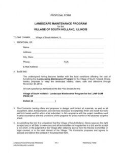 printable 10 importance of landscaping proposals in business  word lawn care bid proposal template