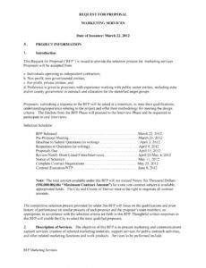 printable 40 best request for proposal templates & examples rpf request for bid proposal template doc