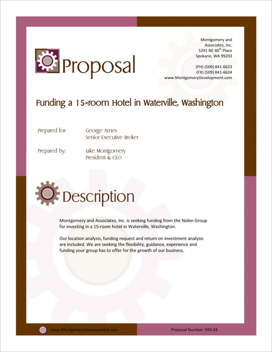 printable real estate investment funding proposal  5 steps real estate development proposal template example