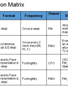 sample communication plan template free download  project team management plan template pdf