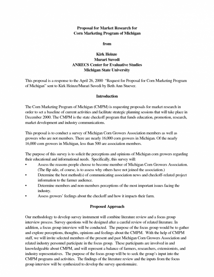 sample marketing research proposal example  network jungle networking proposal template excel