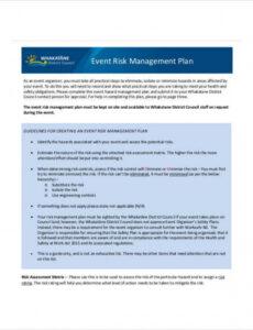 11 risk management plan templates free samples examples enterprise risk management plan template pdf