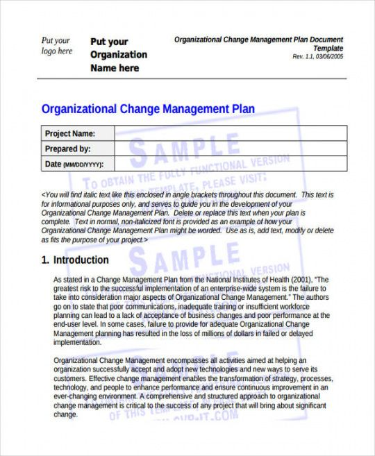 57 management plan examples in pdf  ms word  pages hr change management plan template example