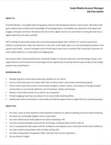 free 10 sample social media manager job description social media management contract template pdf
