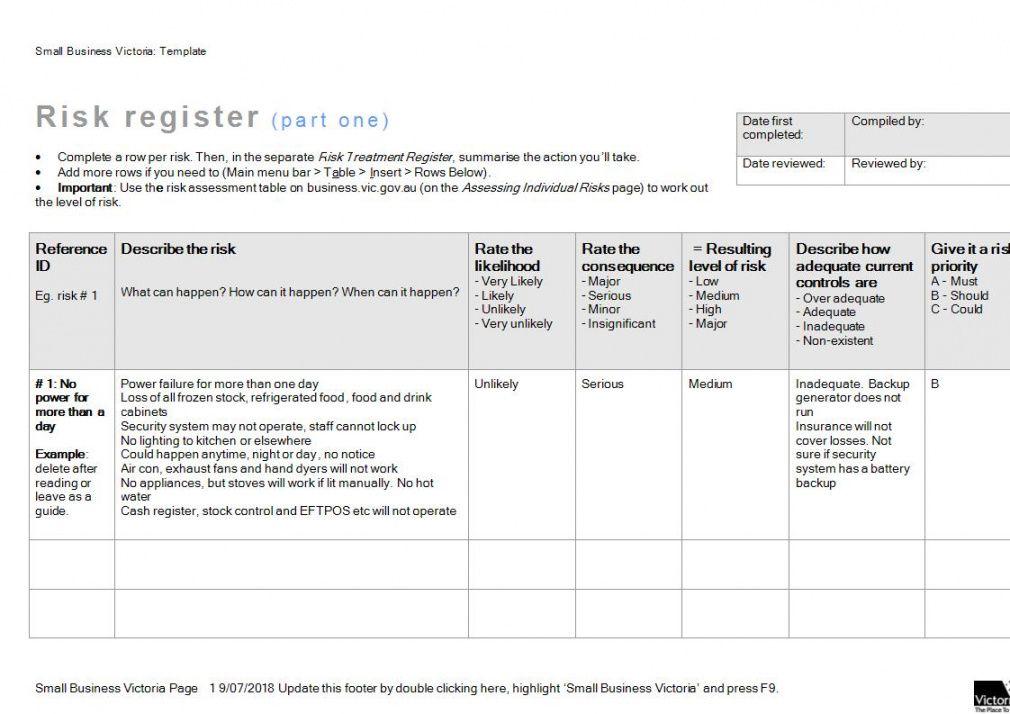 free 26 risk register examples  pdf doc  examples enterprise risk management plan template example