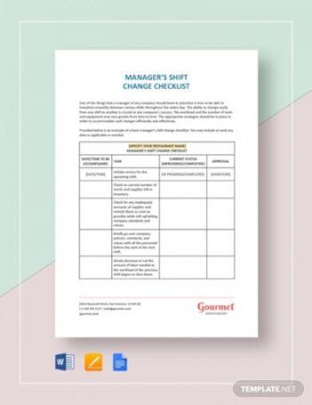 free 5 shift change checklist templates  pdf google docs hr change management plan template excel