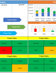 free 5 top powerpoint project dashboard templates  download portfolio management report template excel