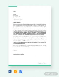 free eagle scout recommendation letter from parent eagle scout proposal template example