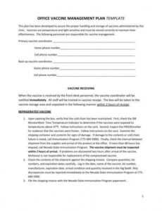 free printable vaccine management plan template  quality vaccine management plan template