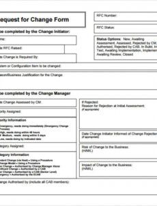 free sample change request template  9 free documents in pdf change management documentation template pdf