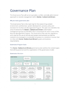 free sample records governance plan  3 quick steps records management plan template excel