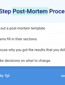 printable 10 tricks to make your postmortems enjoyable and useful project management post mortem template