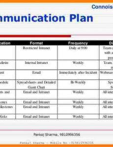 sample 11 communication plan project management  introduction communication plan for change management template