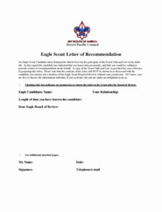 sample 35 eagle letter of ambition  hamiltonplastering eagle scout proposal template doc