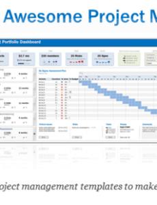 sample excel project & portfolio management templates  download portfolio management report template pdf