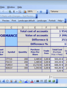 sample simple stock portfolio management by excel  guidance blog portfolio management plan template example