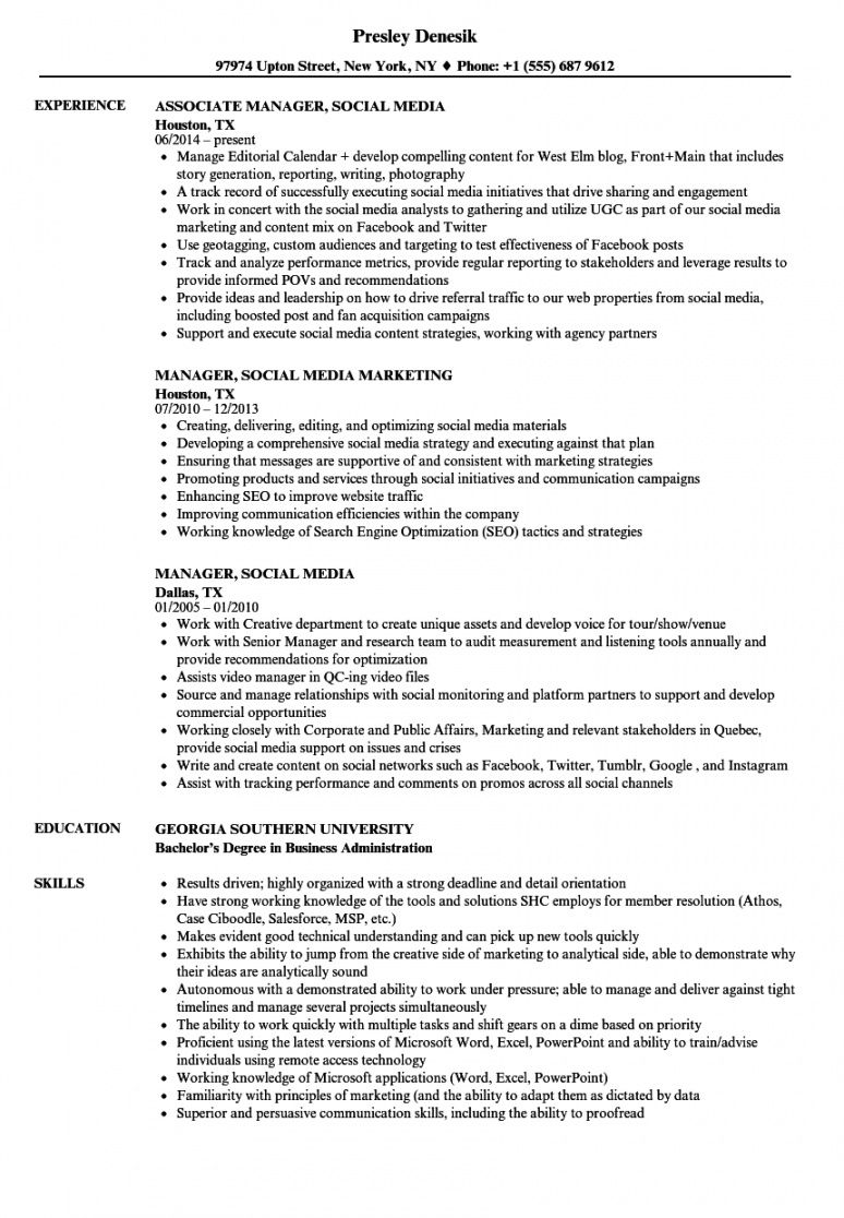 social media management proposal example social media management contract template excel