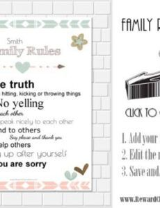 Best Household Rules Template Excel