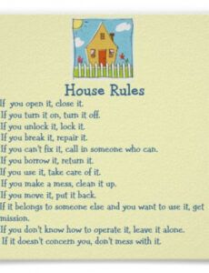 Best Household Rules Template  Sample