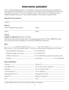 Best Household Rules Template Word Sample