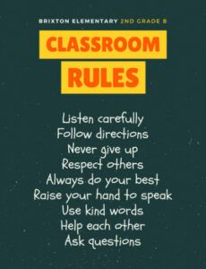 Editable Classroom Rules Template Doc