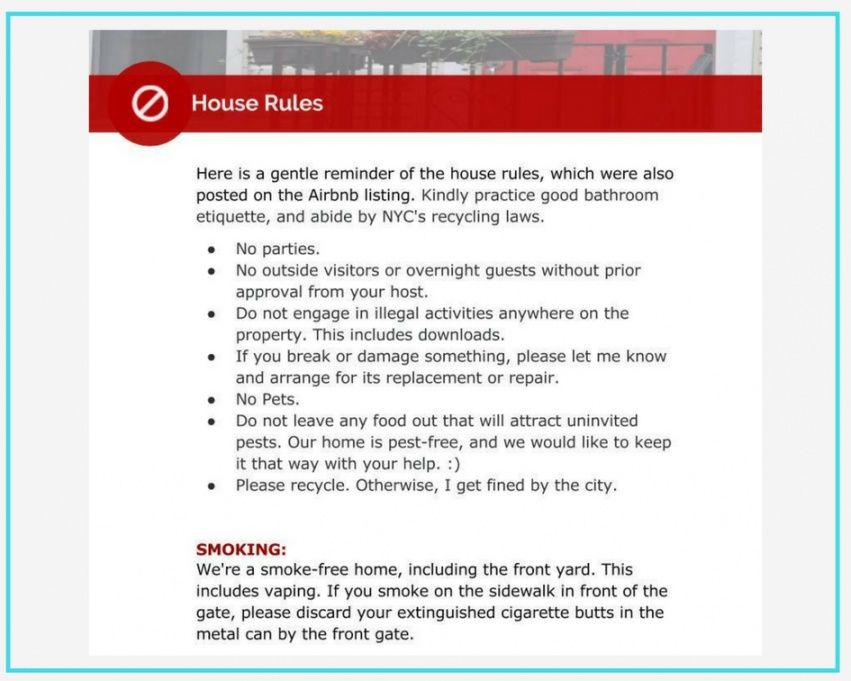 Editable Household Rules Template  Example
