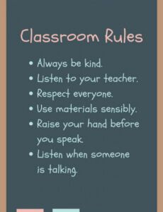 Free Classroom Rules Template Word Example