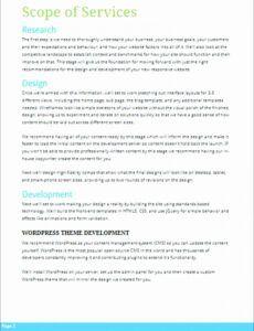 free design scope of work template  tutore  master of scope of work proposal template example