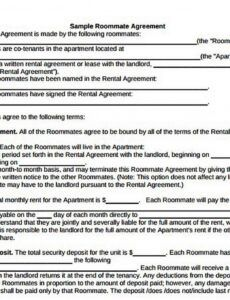 Free House Rules For Roommates Template  Sample