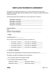 House Rules For Roommates Template Doc