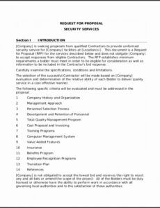 printable 7 security proposal template  sampletemplatess security company proposal template excel