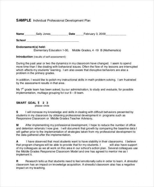 sample 30 professional development plan for teachers examples professional development proposal template word