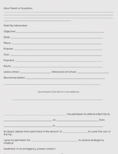 sample blank field trip permission slip templates & forms word pdf field trip proposal template pdf