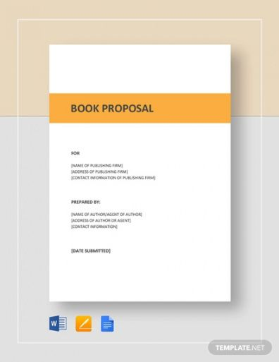sample how to write a book proposal  examples nonfiction book proposal template word