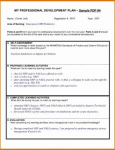 sample professional development plan template for nurses professional development proposal template excel
