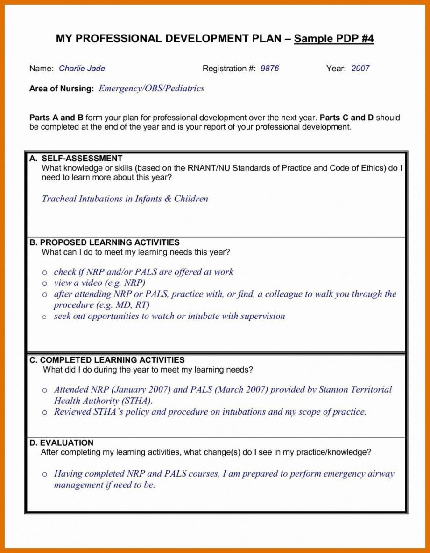 sample professional development plan template for nurses professional development proposal template excel
