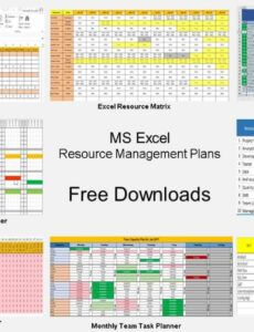 sample resource management excel template  printable paper template resource management spreadsheet template excel
