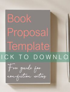 why even selfpublishing authors should write a book nonfiction book proposal template pdf