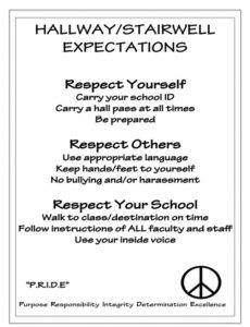 Printable After School Program Rules Template Doc Sample