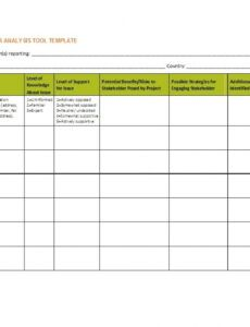editable 50 free stakeholder analysis templates excel & word project management stakeholder register template