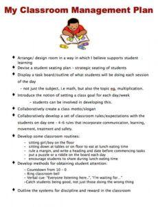 editable classroom management plan  template business champs classroom management and discipline plan template excel