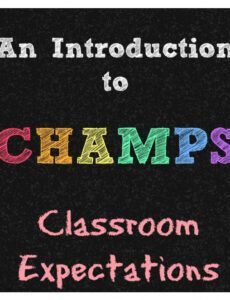 introduction to champs champs classroom management and discipline plan template example