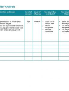 printable 50 free stakeholder analysis templates excel & word project management stakeholder register template example