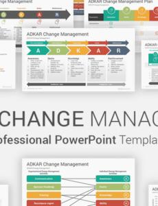 printable adkar change management model powerpoint templates it change management template pdf
