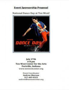 19 sponsorship proposal examples  word pdf  free dance program proposal template excel