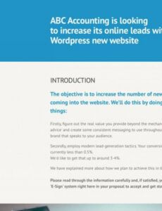 editable website redesign proposal template hosting proposal template excel
