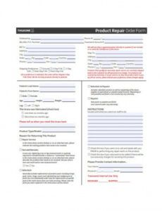 free 26 repair work order form in pdf  ms word property management work order template example
