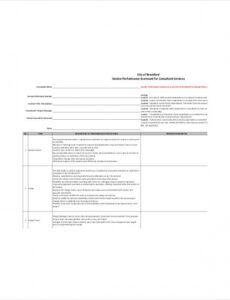 free 8 vendor scorecard templates  free sample example vendor management scorecard template pdf