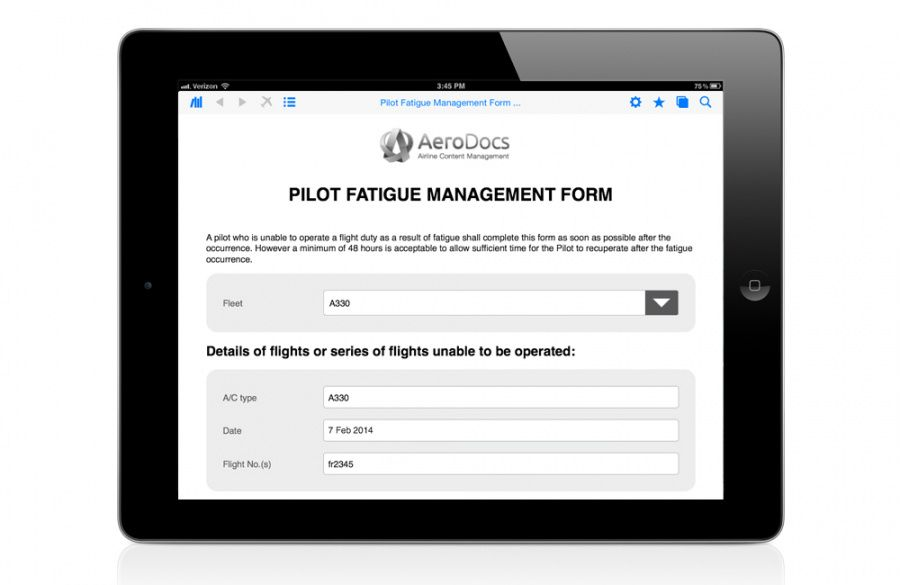 printable efb electronic flight bag aerodocs by arconics fatigue management program template doc