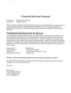 printable financial services proposal for school fundraising consultant proposal template word